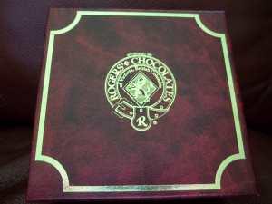 Rogers' Chocolates Box Logo by Catherine Kobley Berke