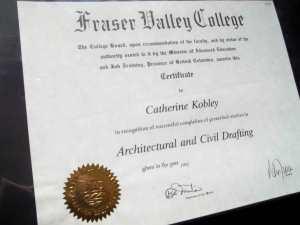 Drafting Certificate Catherine Berke