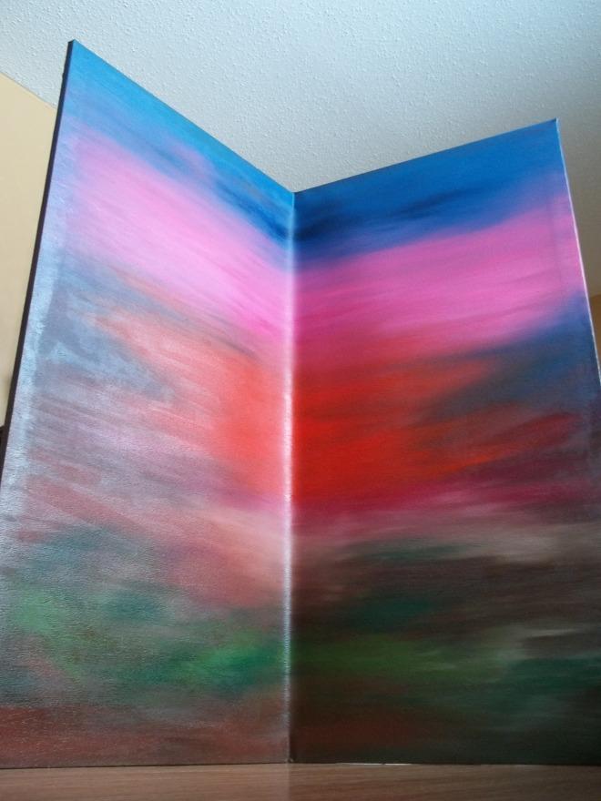 "Backsplash 48"" x 48"" Painting"