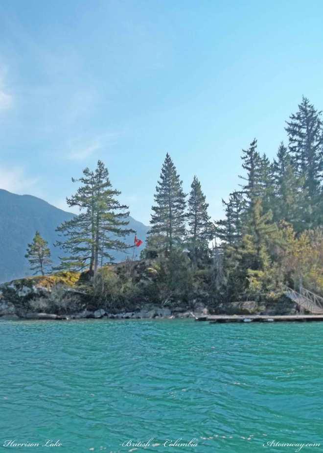 Island on Harrison Lake