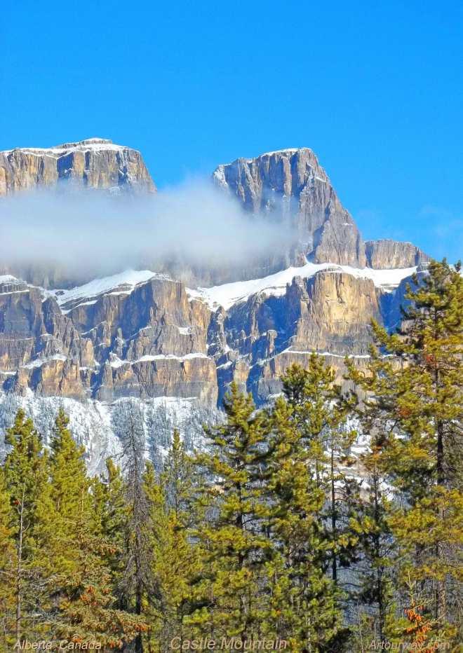 Castle Mountain in Alberta