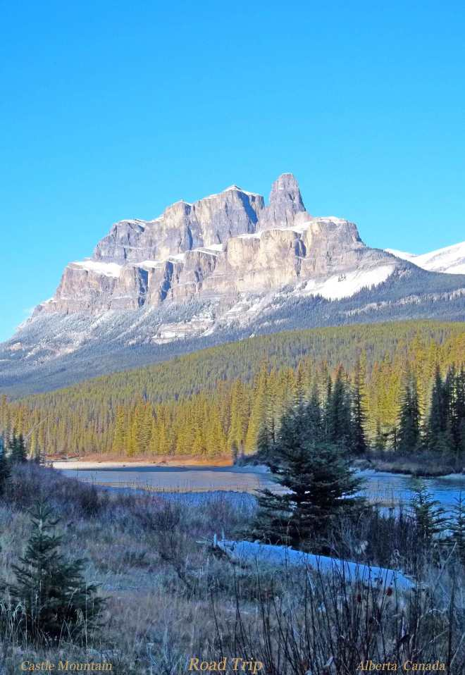 Castle Mountain near Banff Alberta